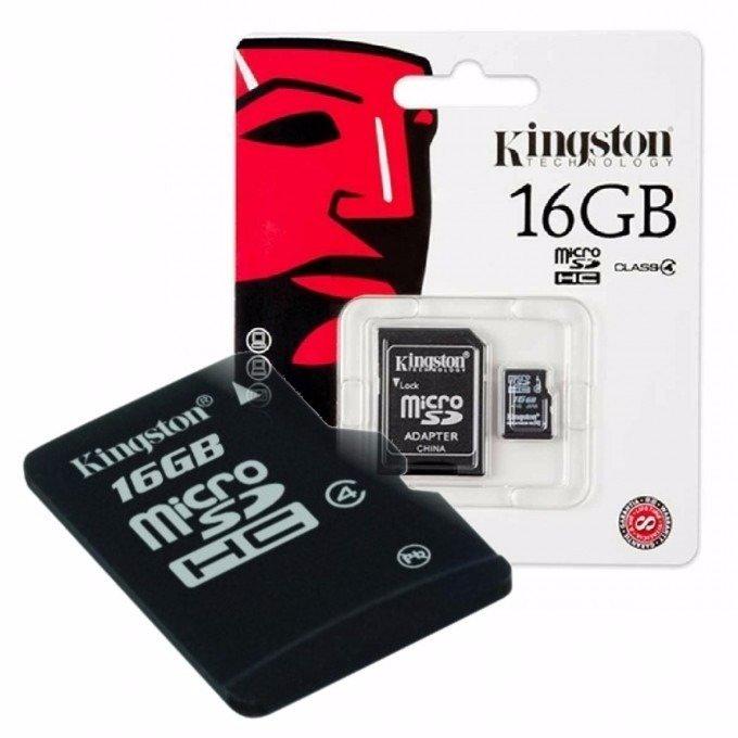 Карта памяти KINGSTON microSDHC 16 ГБ, Class 10, Canvas Select