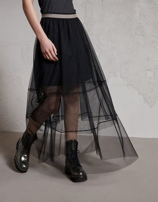 Gonna in tulle Double Cut