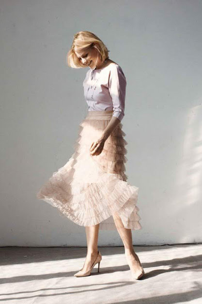"Gonna in tulle ""Ruffle"""