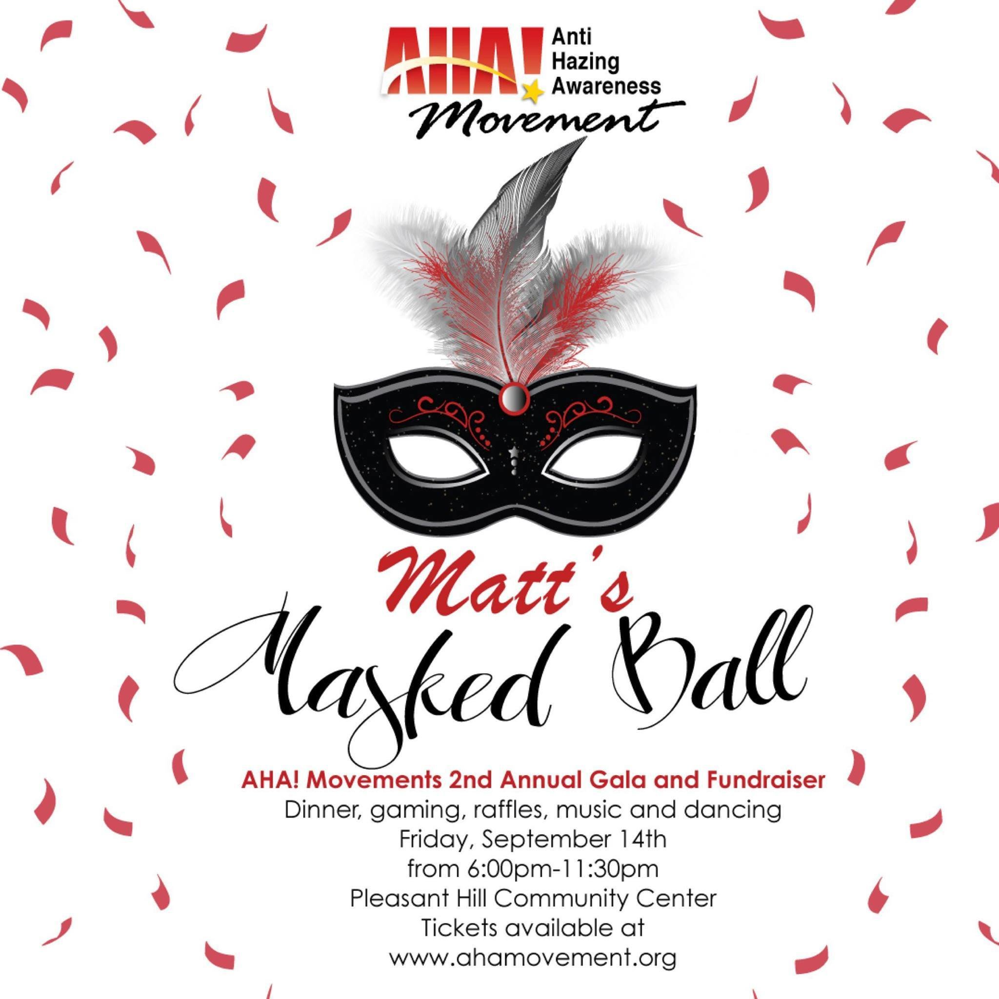 Pair of Tickets Matt's Masked Ball - September 14, 2018 00001