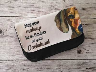 Make-Up Bag - May your Make-up be as Flawless as your Dachshund