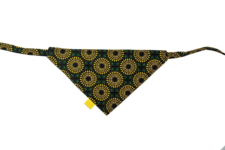 Shweshwe Print Bandana - Green & Yellow - Small