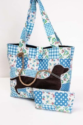 Bright Handmade Dachshund Bags - Long Handles - 5 Colours