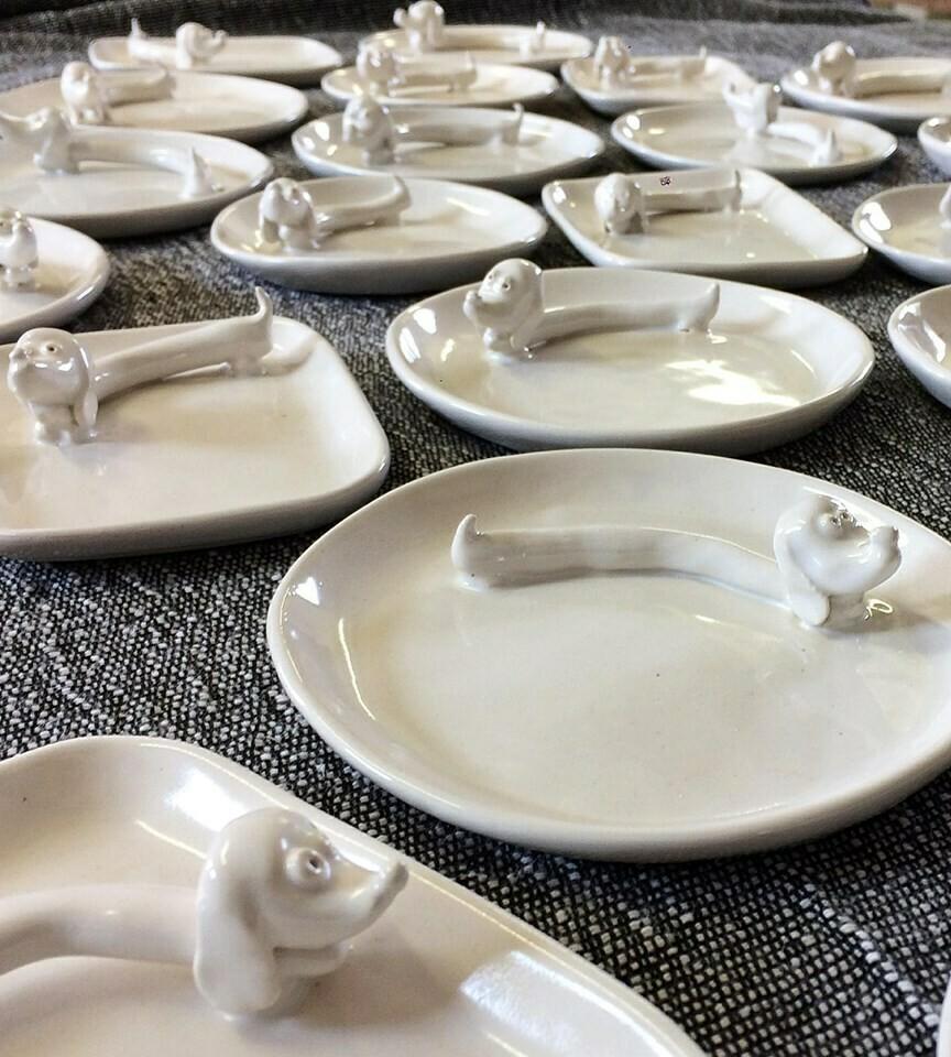 Ceramic Jewelry Dish - Large Round