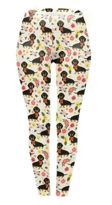 Dachshund Print Leggings - Design 5