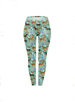 Dachshund Print Leggings - Design 9