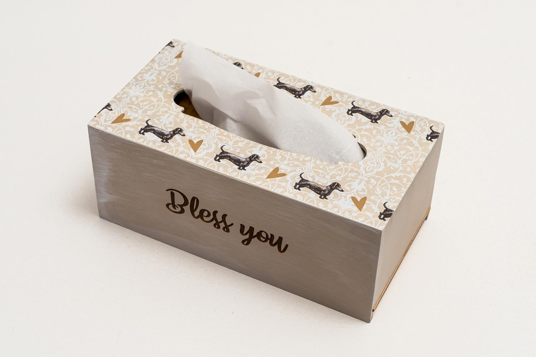 TISSUE HOLDER BOX - Beige Pattern