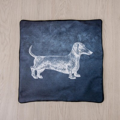 ​​​LARGE SCATTER CUSHION SLIPS  - Grey with White Dog