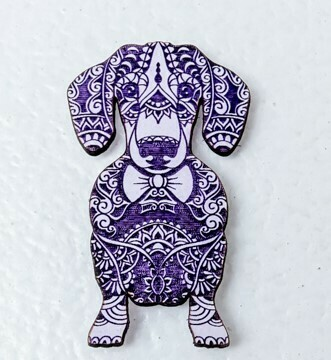 Magnet - Purple and pail Blue