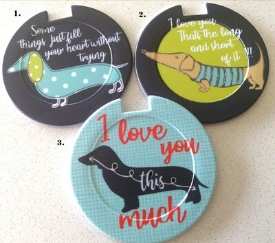 Plastic Licence Disc Holders - All About Love
