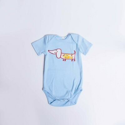 ​Dachshund Baby Vest – Short Sleeve – Cool Dog 1