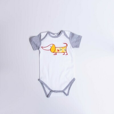 Dachshund Baby Vest – Short  Sleeve – Cool Dog 5