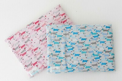​Baby Pillow Case – Blue and Pink