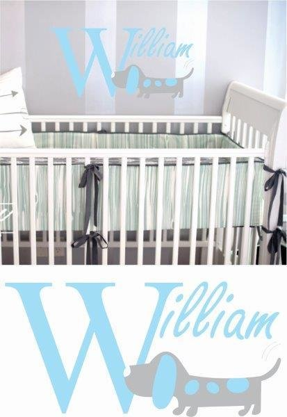 Wall Decal -  Nursery Names 1