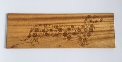 Dachshund Floral Patterned Wooden Cheese Board