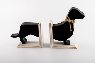 Dachshund Bookends - Black