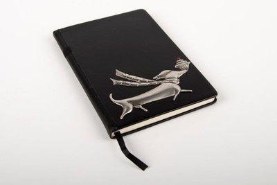 Pewter Range - Stylish Bespoke Journal - Cupcake Dachshund
