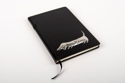 Pewter Range - Stylish Bespoke Journal - Heart Dachshund