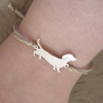 Sterling Silver Dachshund Bracelet