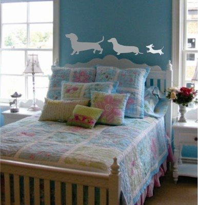 Wall Decal - Three Dogs in a Row
