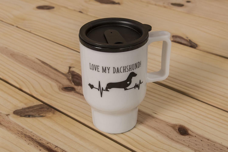 Love My Dachshund Travel Mug