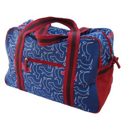 Weekend Bag - Blue and Red