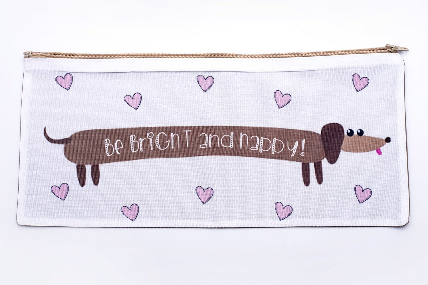 Be Bright and Happy Pencil Bag