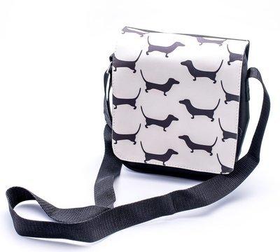 Black & White Dachshund Design Shoulder Bag -  Design 1