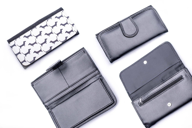 Black & White Dachshund Design Wallet 1