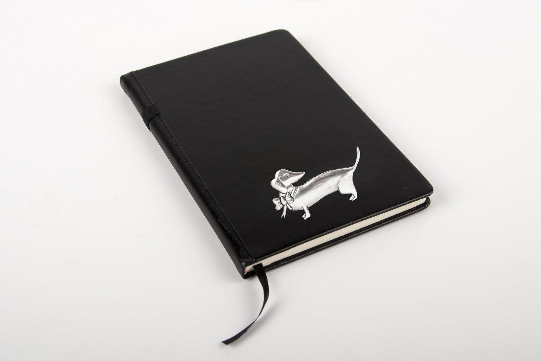 Pewter Range - Stylish Bespoke Journal - Dachshund Bow