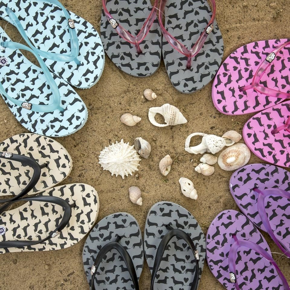 Long Dog Flip Flops - 5 colours available
