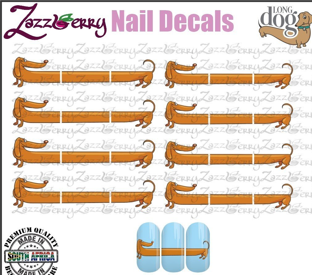 WATER SLIDE NAIL DECALS - Loooong Dog Design