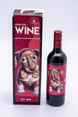Long Dog Wine Box & Label - 1