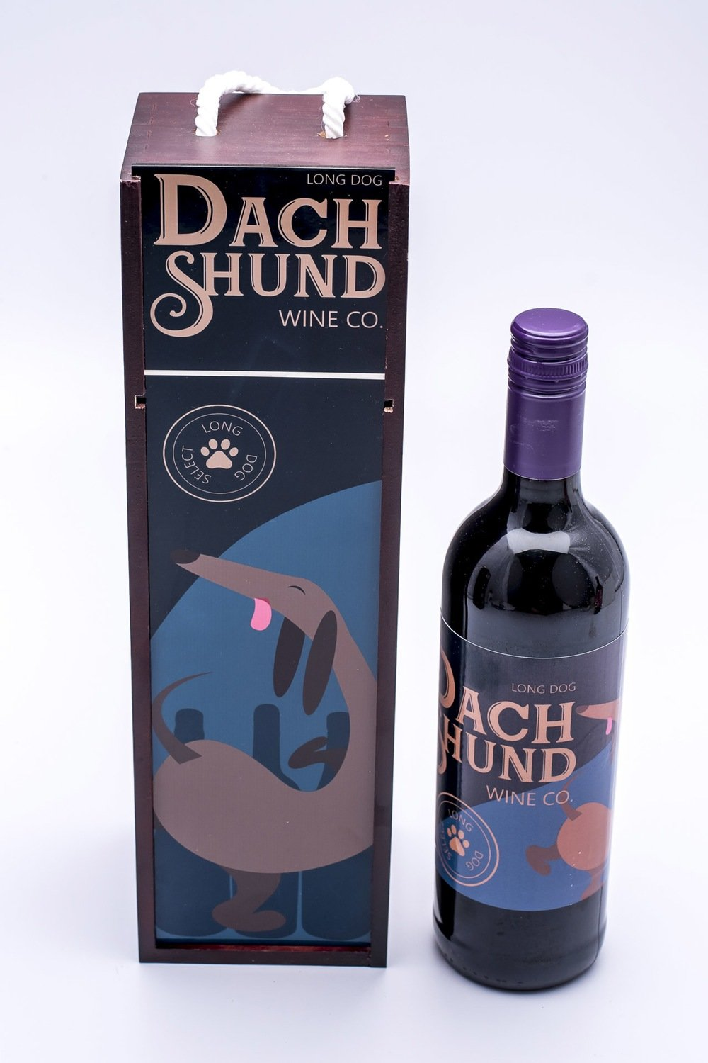 ​Long Dog Wine Box & Label - 2