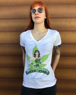 Canna Warrior - Organic Cotton T-Shirt Womens Cut