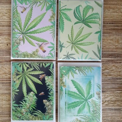 HEMP GREETING CARDS - PACK OF 4