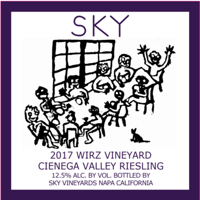 2017 Sky Wirz Vineyard Riesling, Cienega Valley