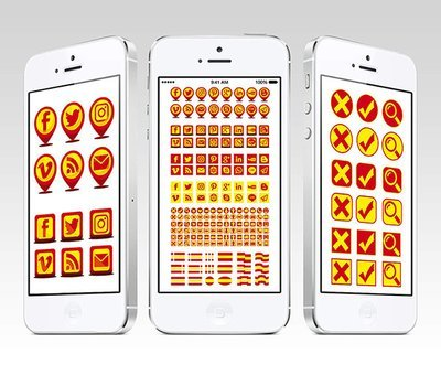 Colección iconos web y redes España (GRATIS)