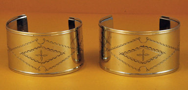 "Bracelets 1 ½"" Wide, Stamped, Raised Edges BRC-15E-2"