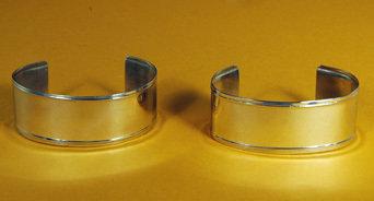 """Bracelets 1"""" Wide, Plain, Raised Edges BRC-10P-2"""