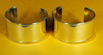"""Bracelets 1 ½"""" Wide, Plain, Raised Edges BRC-15P-2G"""