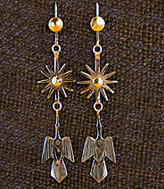 "Earrings:  Starbursts & Waterbirds,  3"" ERWB-SB-D"