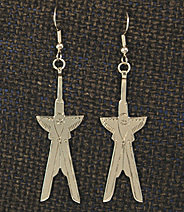 "Earrings, Scissortails 1 piece,  2"" ERST-1-2"