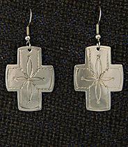 "Earrings:  Southwest Crosses, Medium  1 1/2"" ERSW-2-1G"