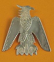 Tie Slide:  Full Length Eagle, Style 1, 3