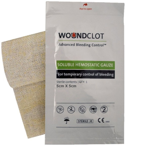 Woundclot ABC - Gaza 5cm X 5cm