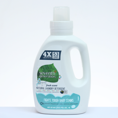 Seventh Generation Detergente Natural Para Ropa de Bebés - 40 oz. / 1.18 L.