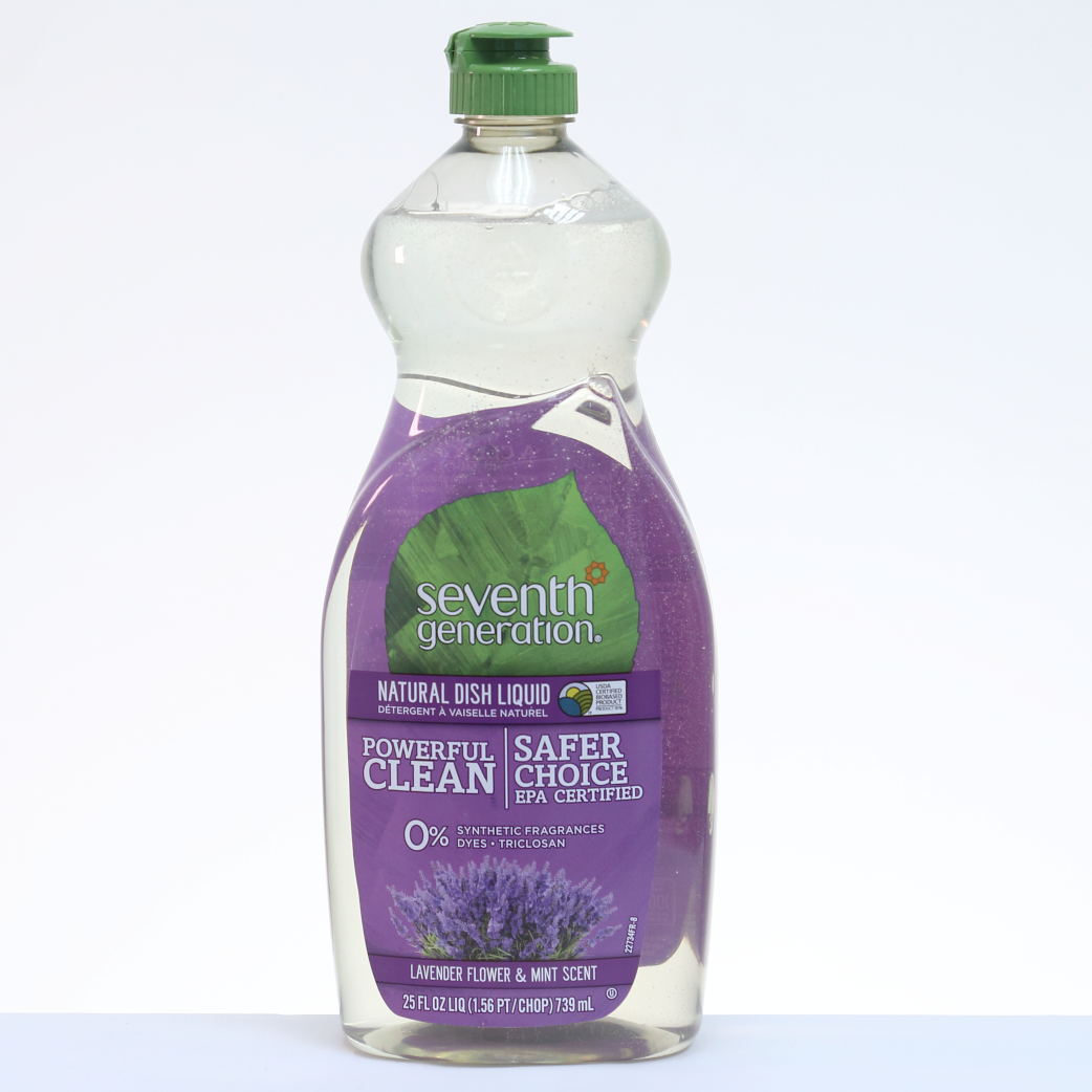 Seventh Generation Fluido Lavaplatos Natural Lavanda y Menta - 25 oz. / 739 ml.