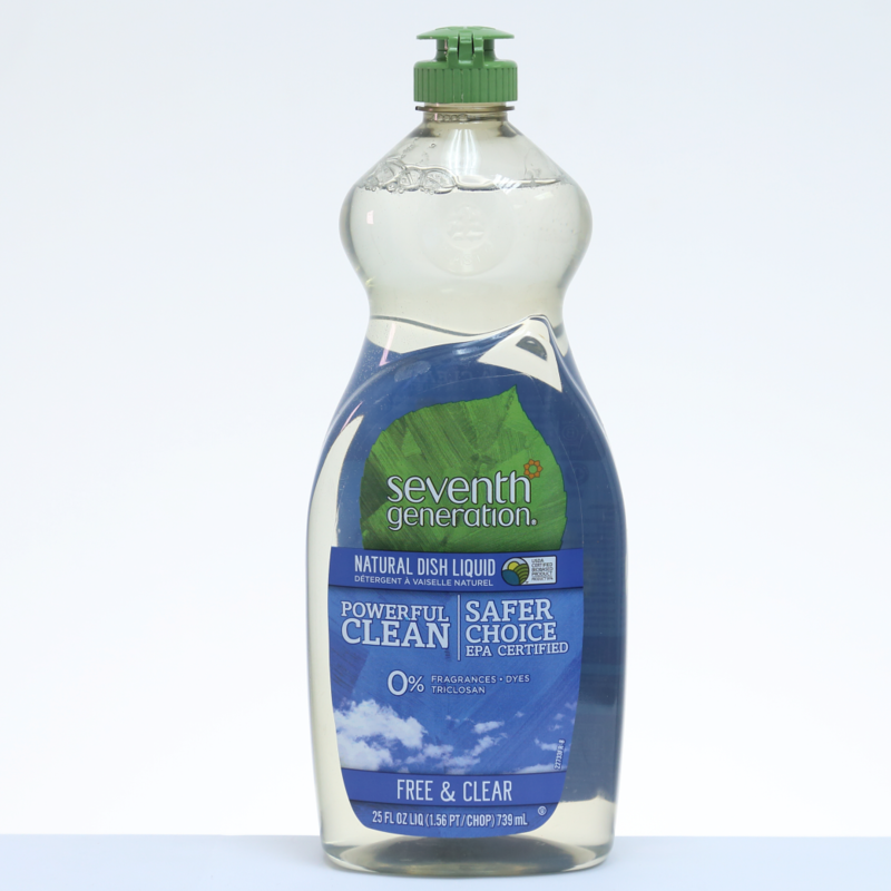 Seventh Generation Fluido Lavaplatos Natural Free & Clear (Sin Aroma) - 25 oz. / 739 ml.