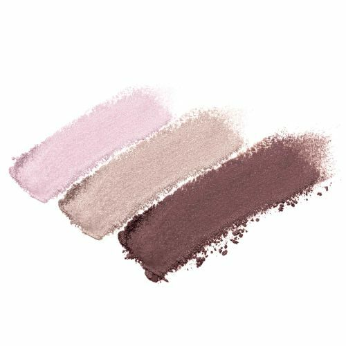 Pink Bliss - shimmery baby pink, matte deep wine and matte beige